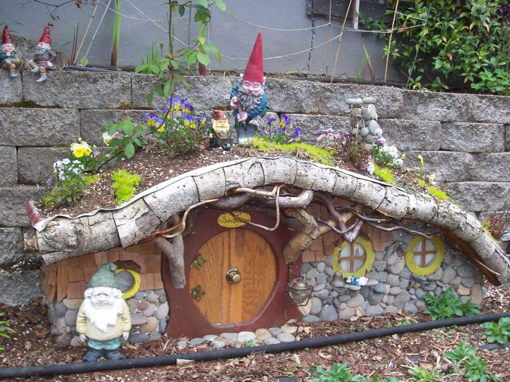 Gnome Garden Ideas fountain fairy garden gardening go Garden Gnome House