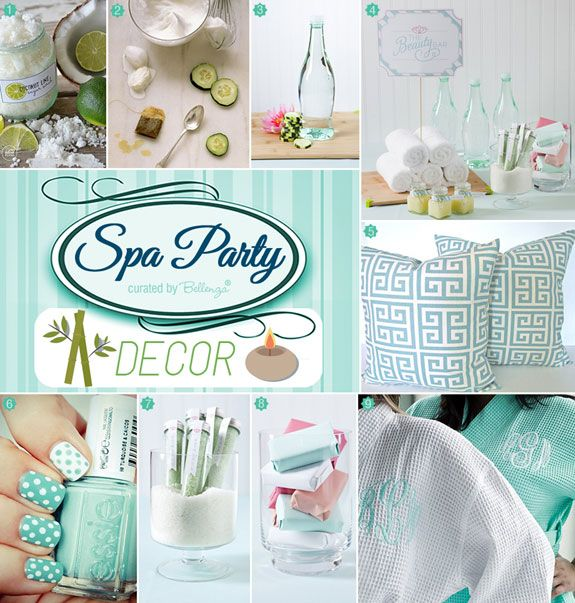a spa manicure bridal shower in cool mint lime bridal shower themes pinterest bridal shower bridal and shower