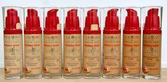 Bourjois Healthy Mix Foundation | 51 Light Vanilla | 52 Vanilla | 53 Light Beige | 54 Beige | 55 Dark Beige | 56 Light Bronze | 57 Bronze | 58 Dark Bronze http://www.iciparisxl.nl/nl_NL/Merken/BOURJOIS/HEALTHY-MIX-FOUNDATION/p614184?JumpTo=OfferList