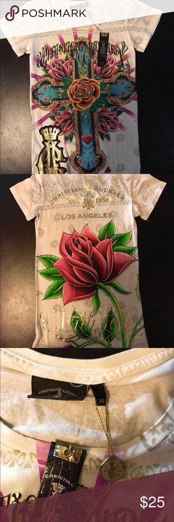 Christian audigier blouse Brand new Christian audigier blouse. Christian Audigier Tops Blouses