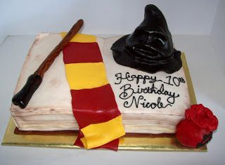 Harry Potter Cake: Can I have this for my birthday in Ravenclaw colors? Please?