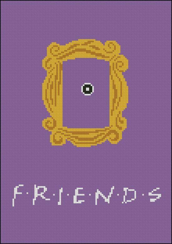 BOGO FREE Friends Frame Cross Stitch Pattern Yellow by StitchLine