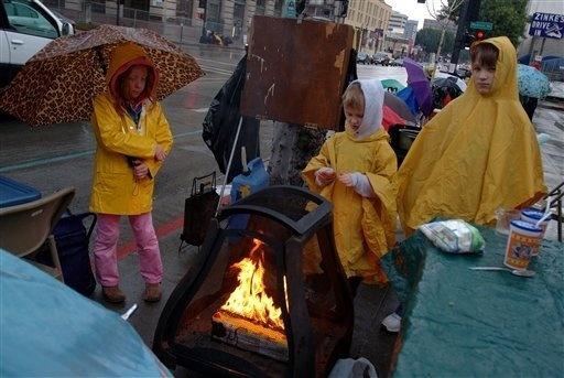 Rose Bowl Parade 2006 Rain