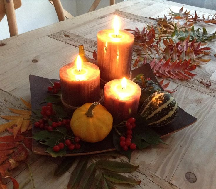 fall, candles, cosy