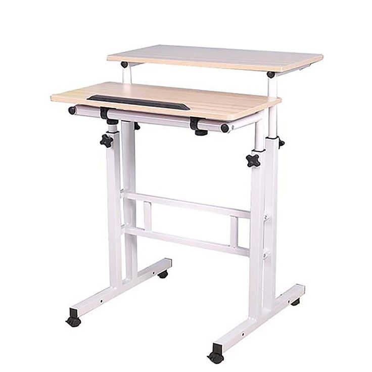 Mind Reader 2 Tier Sit And Stand Desk White Sdroll Wht Best Buy In 2020 Home Office Computer Desk Sit Stand Desk Computer Stand For Desk