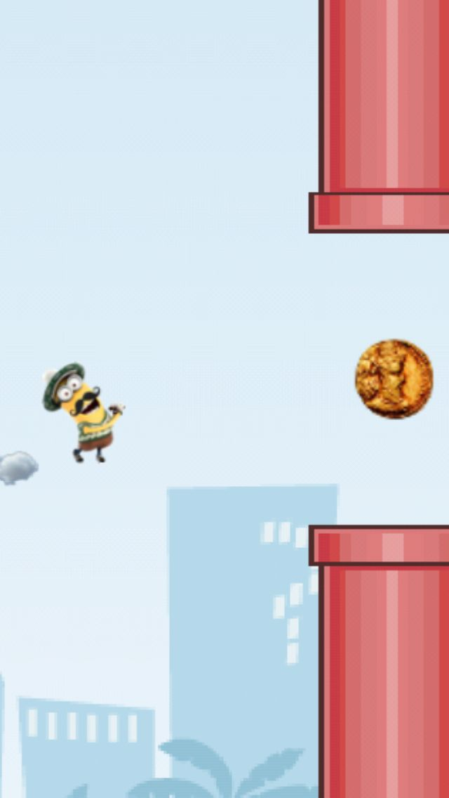 Playing a flying flappy minion in the Flying Avatar game!  http://www.flyingavatar.com
