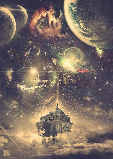 I see.. Hogwarts School Of Witchcraft And Wizardry, sitting in the middle of the galaxy, surrounded by colorful planets