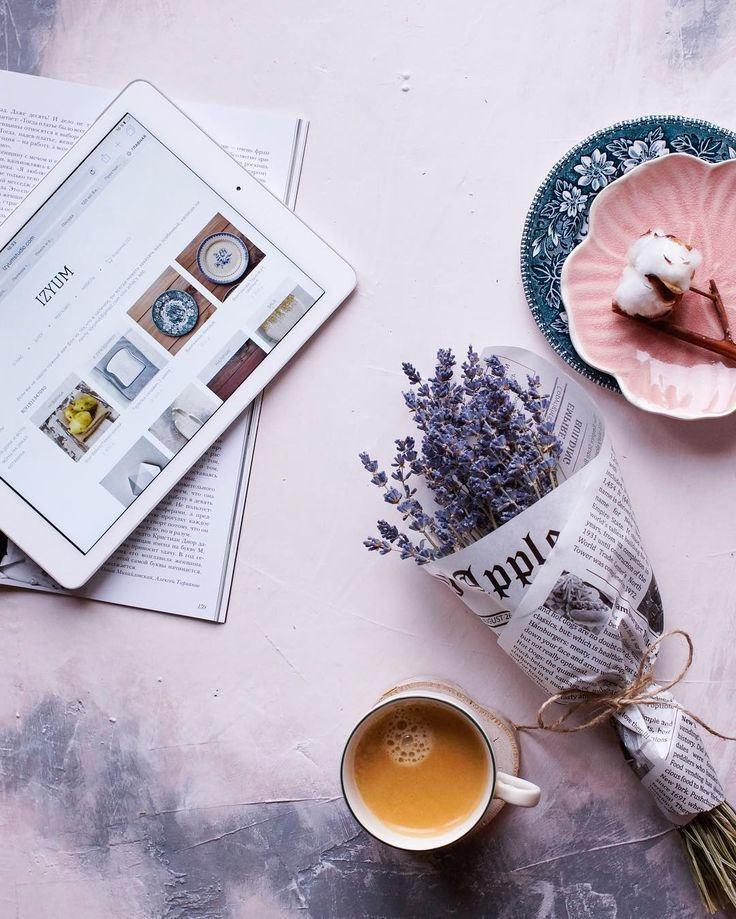 lavender coffee flatlay #coffee #photography