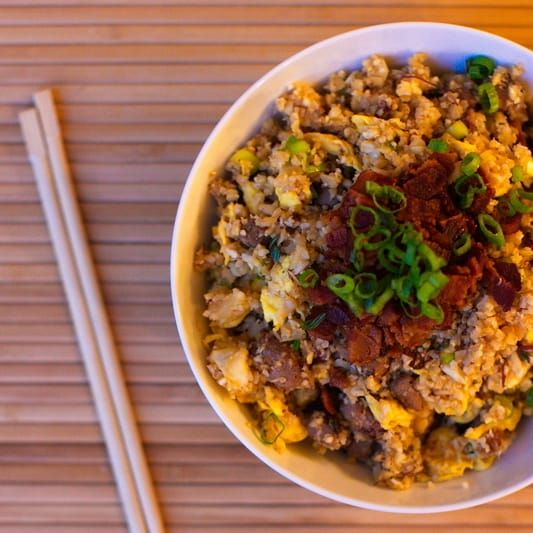 liver and bacon fried \'rice\' – fastPaleo