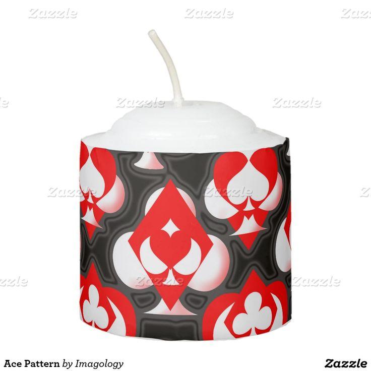 Ace Pattern Votive Candle