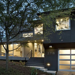 Arlington Residence: Split Level, Idea, Exterior, Remodel, Garage Doors, Kube Architecture, House, Photo, Arlington Residence