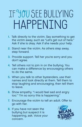 If you see bullying happening #MeanStinks