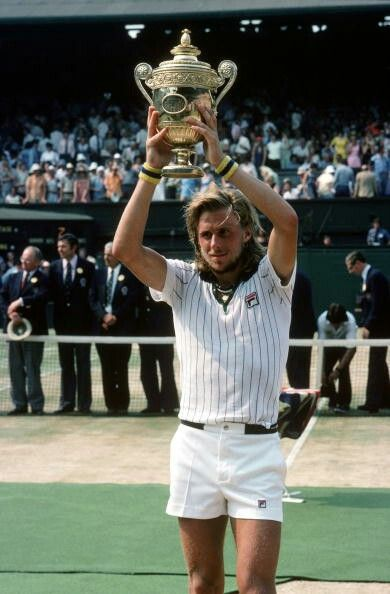 Bjorn Borg of Sweden. Wimbledon champion in 1976.
