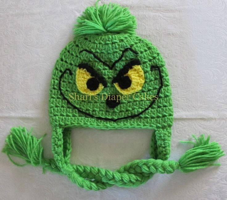 Grinch Crochet Hat Baby Hat Child's Hat by sharisdiapercakes