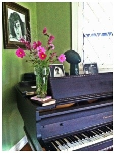 Fall 2012 - flowers from our garden on my great grandmother's piano