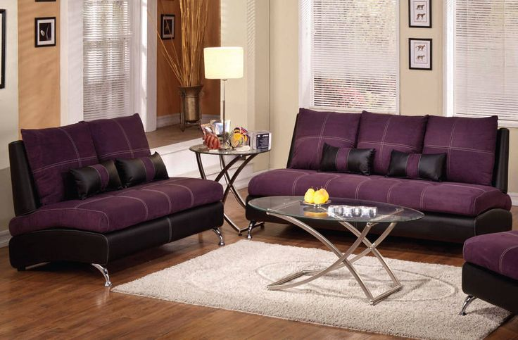 22+ Dark purple living room set ideas