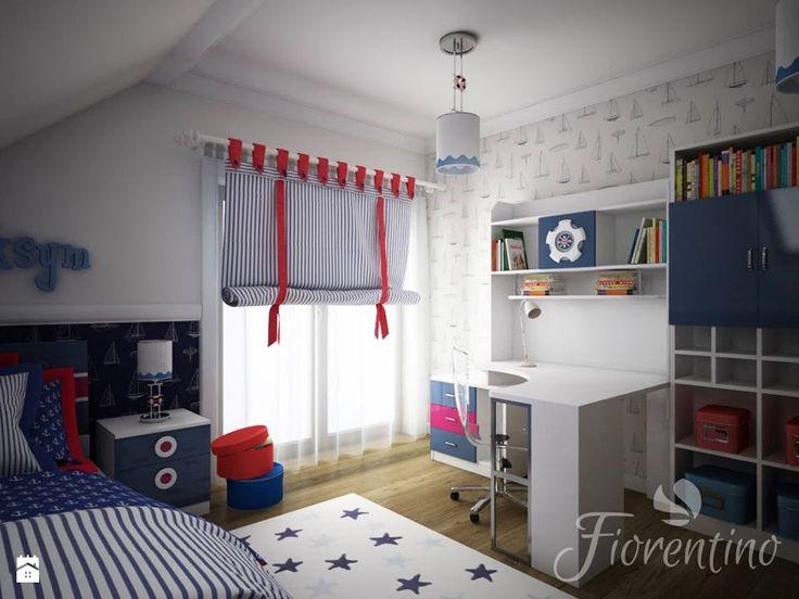 Fiorentino 588 meble dla chłopca - Projekt w stylu marynistycznym. - zdjęcie od…