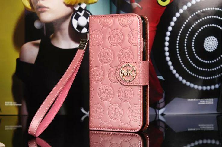 Michael Kors iPhone 7 Case Wallet MK Bling Vernis Cover Pink