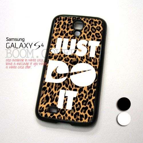 Nike Just Do It Leopard design for Samsung Galaxy S4 Case