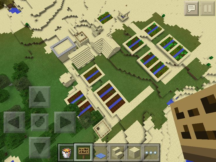 This is a close-up of my first sand village, showing the advanced layout.