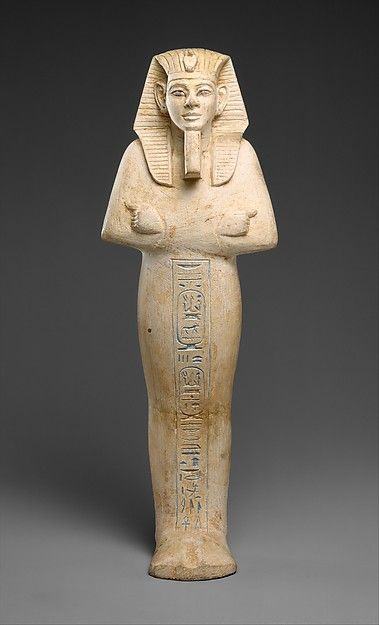 Shabti of Merneptah -  Period: New Kingdom, Ramesside Dynasty: Dynasty 19 Reign: reign of Merneptah Date: ca. 1213–1203 B.C. Geography: From Egypt; Probably from Upper Egypt; Thebes Medium: Limestone