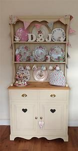 Shabby Chic Hand Painted Pine Country Farmhouse Kitchen Dresser for sale on Ebay UK £250