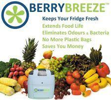 BerryBreeze Activated Oxygen Refrigerator Deodorizer Freshener Food Saver