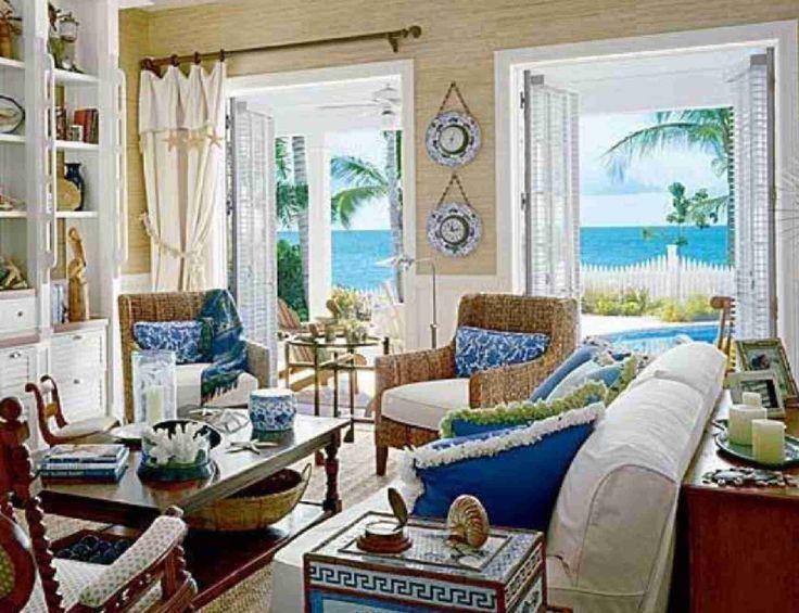 interior interior ideas pleasing living room design of beach house interior ideas presenting white brown fabric sofa and blue cushions with rectangular - Tropical Apartment Design