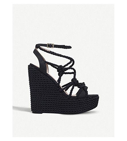 e7268e4d2c8 KURT GEIGER LONDON | Notty rope wedge sandals #Shoes #Heels #Wedges ...