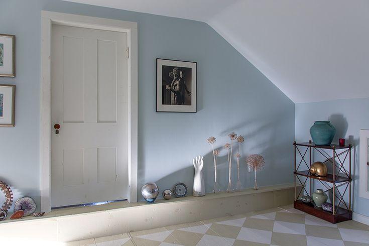 Soft Blue Gray Walls Are Farrow Ball Borrowed Light