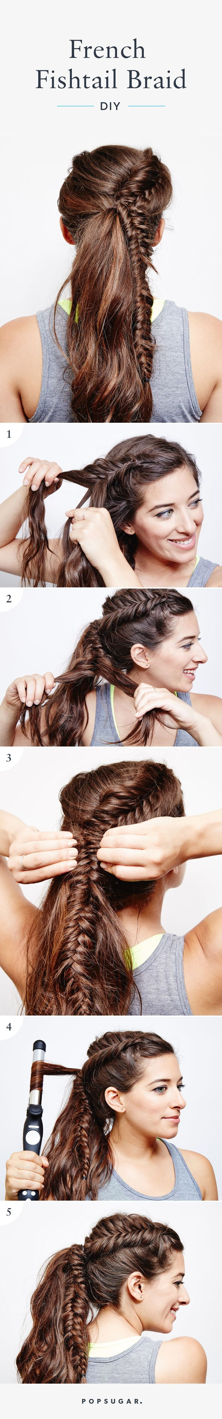 Wear this French Fishtail Braid for your next cardio class!