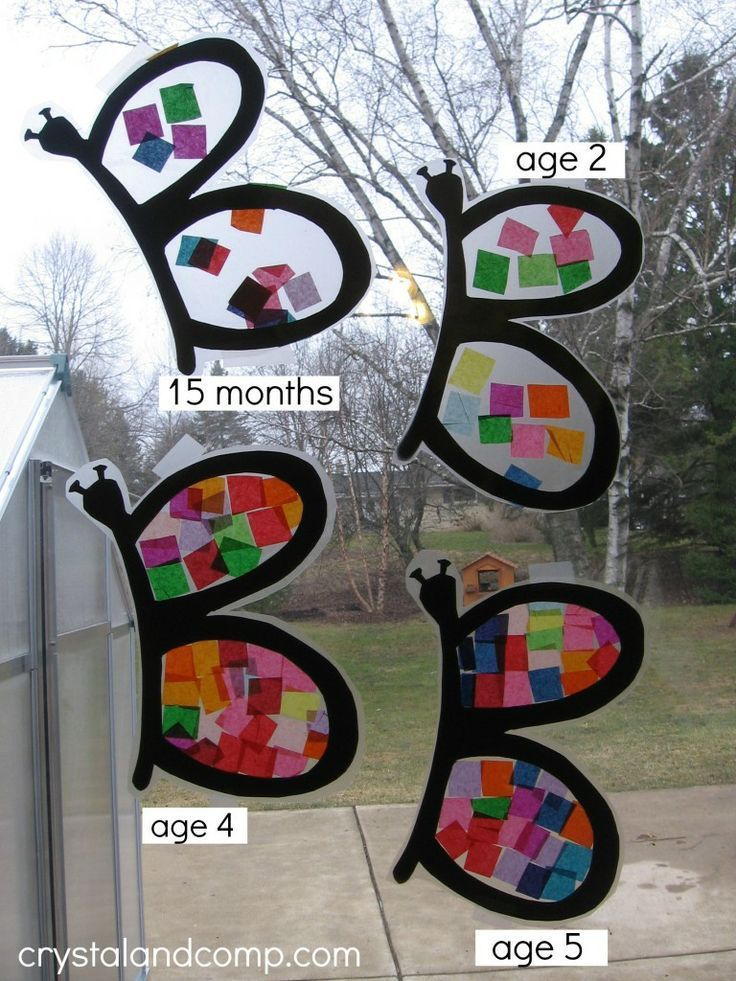 B is for butterfly preschool craft (9) - crystalandcomp.com Fun for the kids in the family to make this using FALL colors !