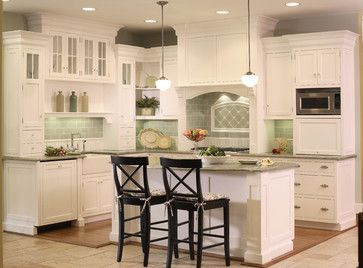 Green Subway Tile Kitchen Backsplash | ... Kitchen With Bead Board And  Green Tile