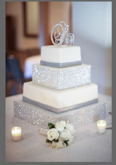 Monogram Cake Toppers Swarovski Crystal Monogram By Panachebride, $184.00