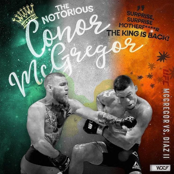 THE FIGHT CARD [design series] Conor McGregor vs. Nate Diaz II —the king is back #conormcgregor #ufc #ufc202 #natediaz #thekingisback #ireland #thefightgame #thenotorious #thediazbrothers #mma #fightcard #thefightcard #thefightcardseries