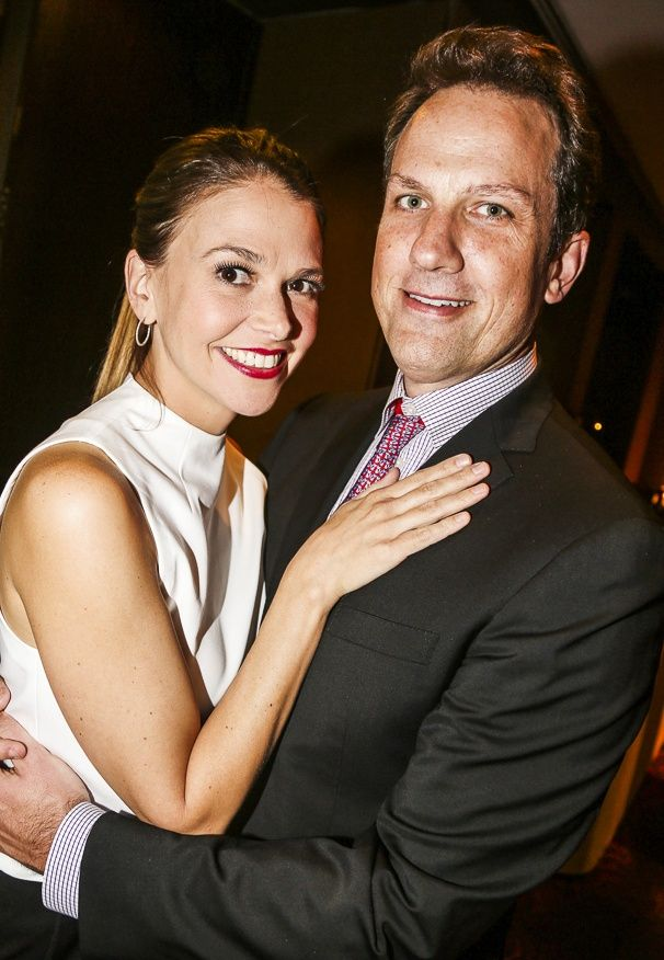 Sutton Foster takes a snapshot with her husband Ted Griffin. | Photos! Alan Cumming, Laura Osnes & the New York Pops Salute Rob & Kathleen Marshall at Carnegie Hall | Broadway.com