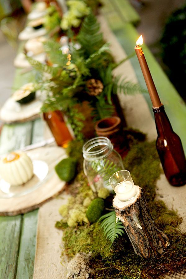 #stylemepretty for #ohsoinspired http://www.weddingchicks.com/gallery/woodland-wedding-decorations/?pid=45478