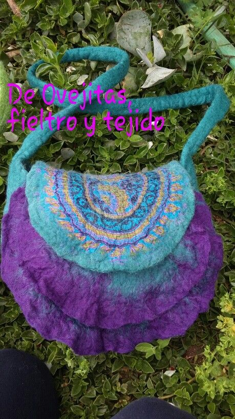 Cartera fieltro #felting