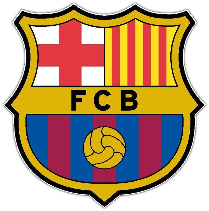 FC Barcelona Barca Spain Football Soccer Car Bumper Sticker Decal 4.5X4.5