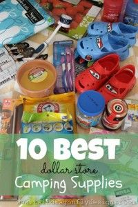 10 Best Camping Supplies from a dollar store... Yup! #camping #outdoors