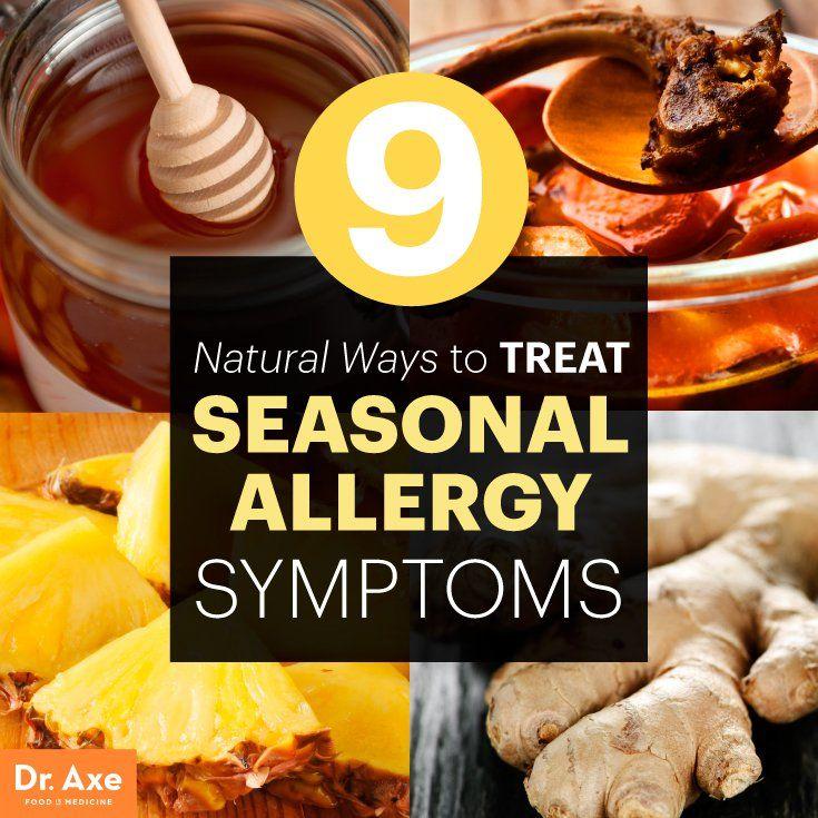 Natural Ways to Treat Seasonal Allergy Symptoms - Dr. Axe