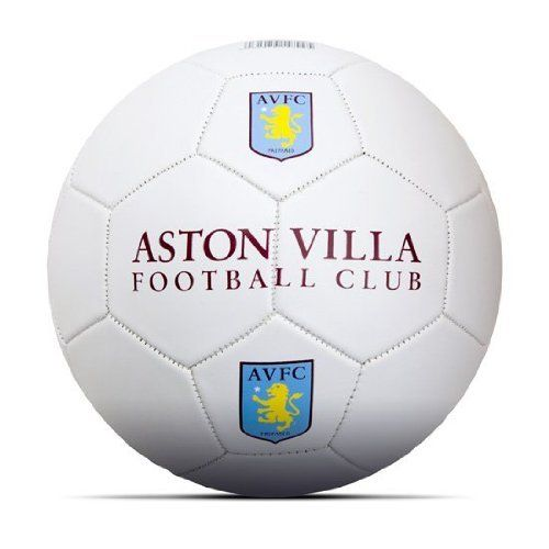 Aston Villa Football by Home Win. $13.81. Imported from the UK. Size 5. 32 Panel. Officially licensed. Quality guaranteed. The Aston Villa Football is a new design and is made in their famous claret and blue club colours. It is a full size 5 ball and makes a perfect gift which can be used in training or for a kickabout in the park.� The football in constructed in a classic 18 panel design and is made from a synthetic material.� There are printed Asto...