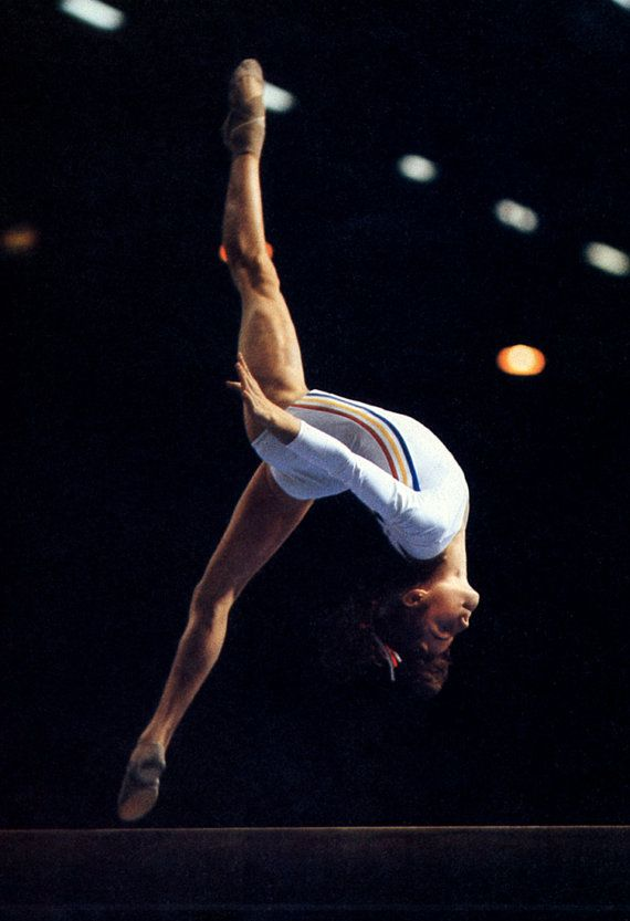 Nadia Comaneci Poster Gymnastics Romanian by ThePosterProvider
