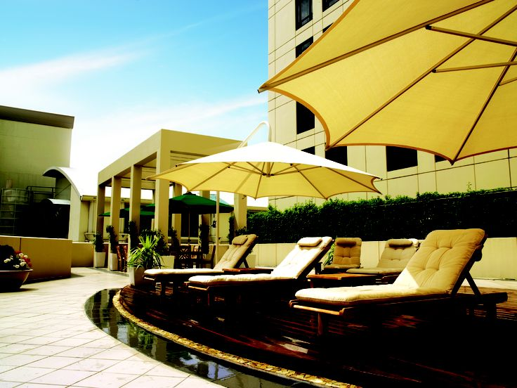 Enjoy a beautiful summer's day on our Spa Deck- Park Hyatt Melbourne