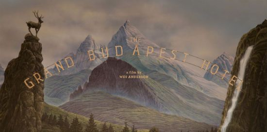 Artwork for Wes Anderson's 'The Grand Budapest Hotel'