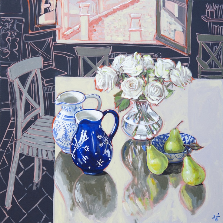 Still Life Roses and Pears, June 2011 Christine Webb