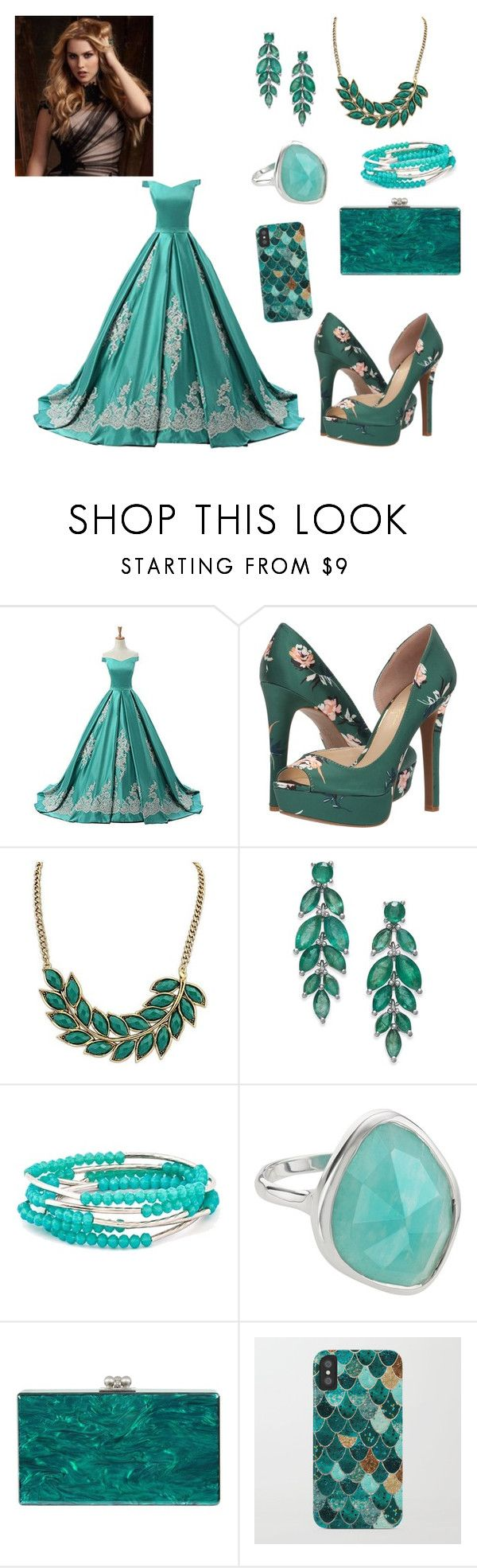 """""""baile dos salvadores"""" by nayanesalvadore ❤ liked on Polyvore featuring Jessica Simpson, WithChic, Chrysalis, Monica Vinader and Edie Parker"""