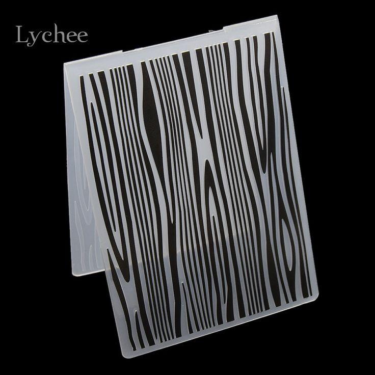Plástico Carpeta de Grabación En Relieve Para El Libro de Recuerdos DIY Álbum Tarjeta de Herramienta de la Plantilla De Plástico Árbol Textura Anillos de Sello