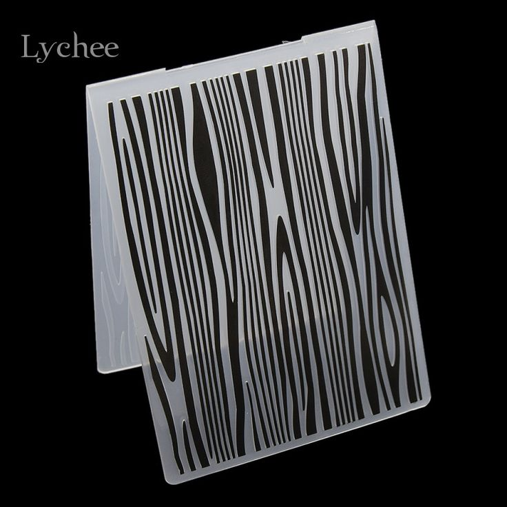 Plastik Kartu Embossing Folder Untuk Scrapbook DIY Album Alat Template Plastik Pohon Tekstur Rings Stamp