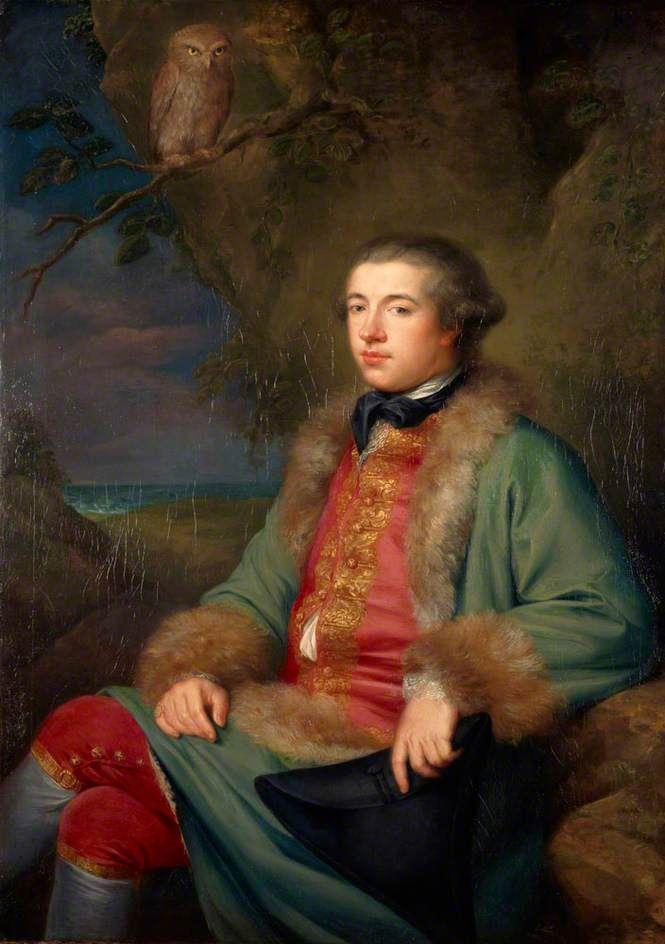 James Boswell (1740–1795) par George Willison, 1765 - Boswell est connu pour sa monumentale biographie de Samuel Johnson, publiée en 1791, considérée comme l'un des chefs-d'œuvre de la littérature anglaise du XVIIIe siècle, pour ses récits de voyages et pour son engagement en faveur des Corses.